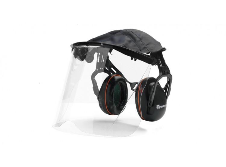 Husqvarna chrániče sluchu s plexisklovým štítem