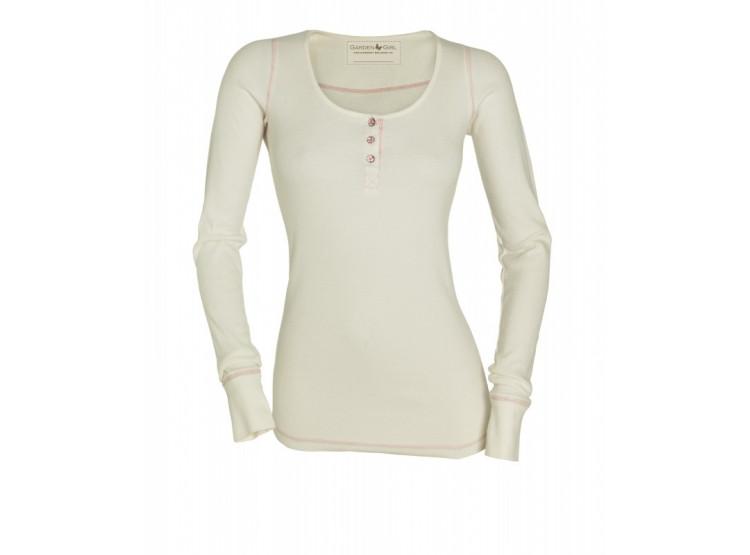 GardenGirl Bílé tričko s dlouhým rukávem