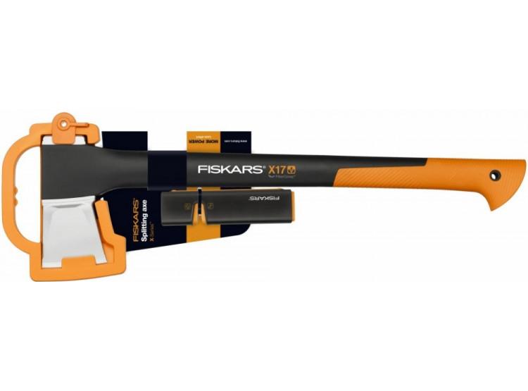 Fiskars Štípací sekera X17 + ostřič Xsharp™ 1020182